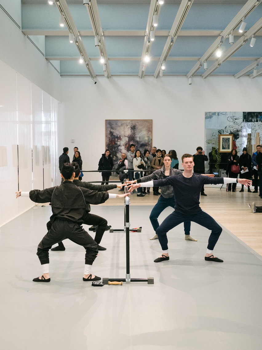 Art performance in the Whitney Museum